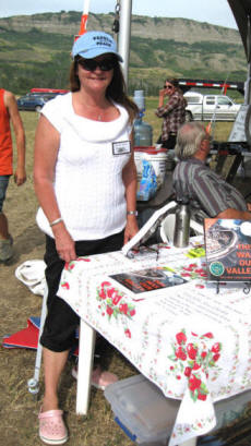 Shirlee at book table